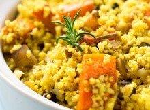 Gluten-Free Vegan Millet Pilaf