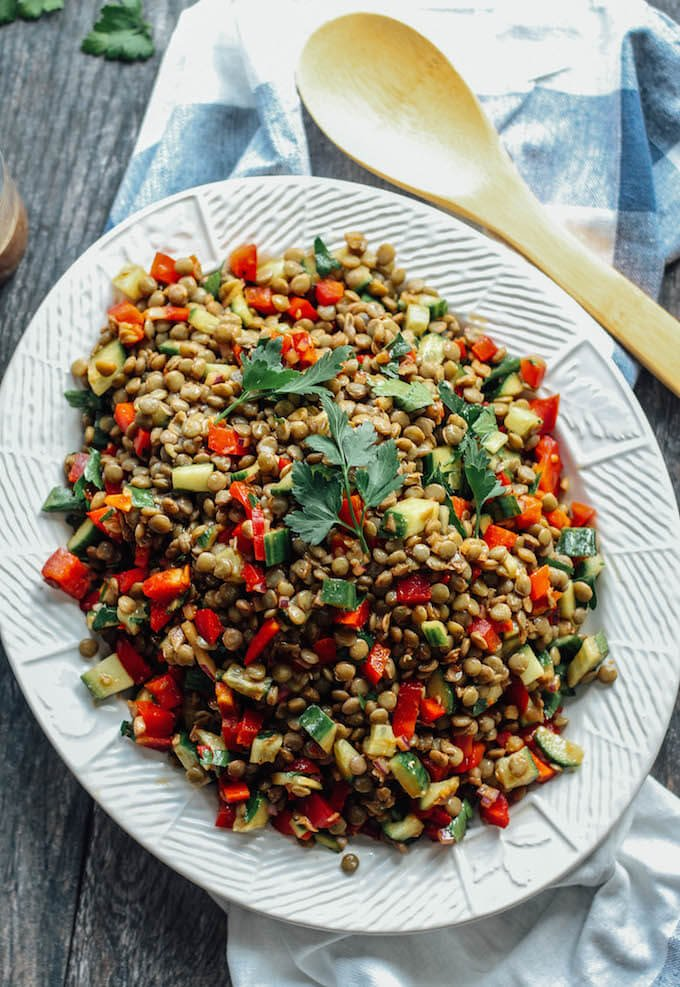 Cool Lentil Salad - Gain More Energy With Powerful Lentils